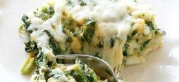 Arroz con espinacas y parmesano