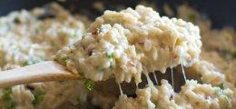 Arroz integral cremoso con coliflor