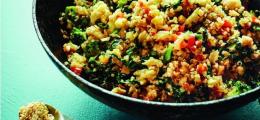 Wok de arroz con verduras
